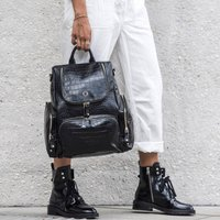 Amber Leather Backpack