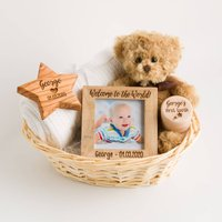 Personalised Deluxe New Baby Gift Basket