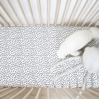 Monochrome Print Fitted Cot Sheet