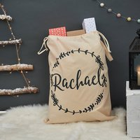 Personalised Christmas Wreath Sack
