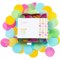 Tropical Confetti Circles
