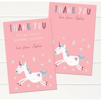 Personalised Unicorn Childrens Thank You Cards