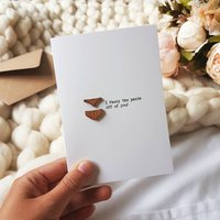 Fancy The Pants Wooden Detail Love Card