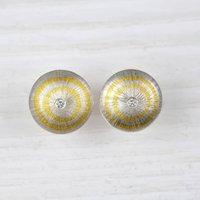 Silver And Fine Gold Diamond Earrings, Silver
