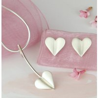 Love Grows Silver Heart Jewellery Set, Silver