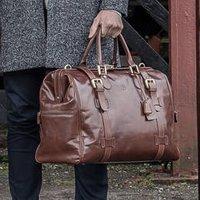 Classic Leather Gladstone Bag The Gassano, Chestnut/Tan/Dark Chocolate