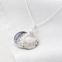 Vintage Personalised Locket Necklace With Photo