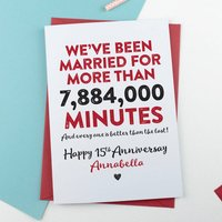 Happy Anniversary In Minutes Personalised Card