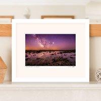 Rock Pool Seascape Milky Way Print