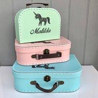 Personalised Unicorn Set Of Stacking Cases