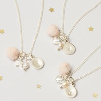 Create Your Own Lila Personalised Flower Girl Necklace