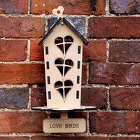 Personalised Lovebird Garden Bird Feeder