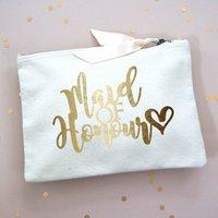 Maid Of Honour Gold Foil Make Up Bag