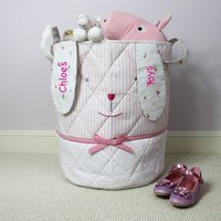 Personalised Bunny Toy Bag