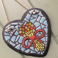 'Mum' Hanging Heart Mosaic