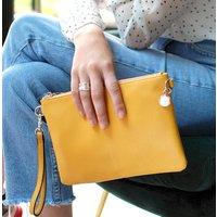 Personalised Vegan Leather Clutch Bag