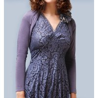 Shrug In Purple Smoke Fine Knit