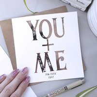 You + Me. I.D.S.T.   Valentine's Card For Boyfriend