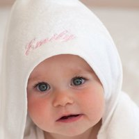 Personalised Velour Organic Cotton Baby Towel