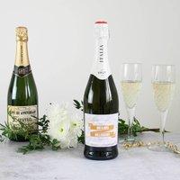 First 1st Anniversary Gift Personalised Premium Wine