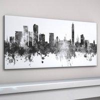Birmingham Skyline Cityscape Black And White, Black/White