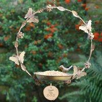Personalised Butterfly Hanging Garden Bird Feeder
