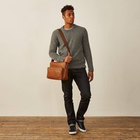 Personalised Genuine Leather Messenger Bag Santino M