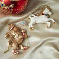 Lion And Unicorn Christmas Tree Decorations