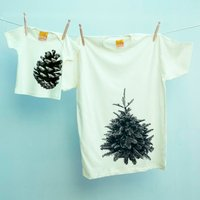 Family Twinning Tshirt Set Pine Tree / Cone