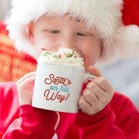 Personalised 'Santa's On His Way' Christmas Eve Mug