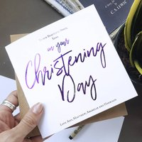 On Your Christening Day | Christening Baptism Card