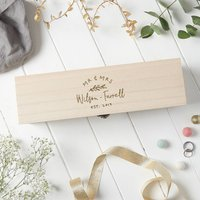 Wooden Engraved Wedding Wine Box