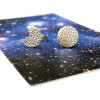 Mismatched Moon Earrings