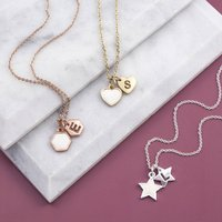 Small Enamel Charm Necklace With Christmas Gift Card