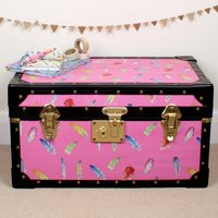 Pink Feathers Tuck Box, Pink