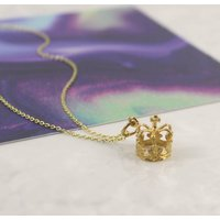 Gold Vermeil Queen Crown Necklace, Gold