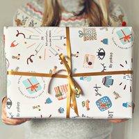 No Peeking Christmas Wrapping Paper