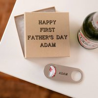 Personalised Fathers Beer Bottle Opener And Gift Box