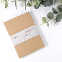 Personalised 70th Birthday Gift Boxed Concertina Card