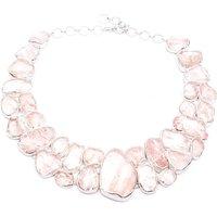 Rose Quartz Statement Designer Gemstone Necklace