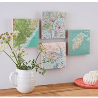 Custom Map Location Collectable Wall Art Block