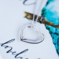 Double Heart 0.15ct Diamond Necklace*