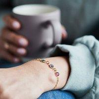 Gold Family Birthstone Bracelet, Gold