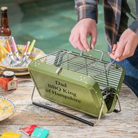 Personalised Portable Briefcase Barbecue