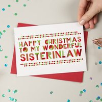 Wonderful Sister In Law Christmas Card