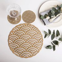 Rainbow Placemats And Coasters Set