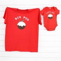Big Pud Little Pud Christmas T Shirt Set