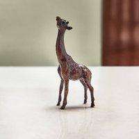 Miniature Bronze Giraffe Sculpture 8th Anniversary Gift