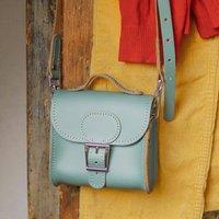 Mini Satchel Handbag In Stormy Sea Grey