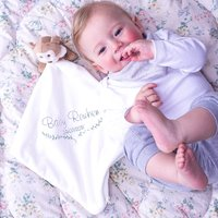 Personalised Monkey Baby Comforter Blanket Toy